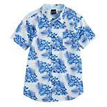Boys 8-20 Tropical Palm Print Button-Up Shirt