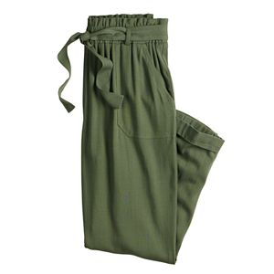 Juniors' Joe B. Paperbag Waist Tapered Leg Pants