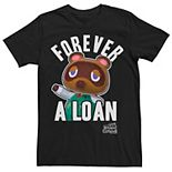 Men's Nintendo Animal Crossing Tom Nook Forever A Loan Tee