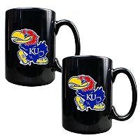 University of Kansas Jayhawks 2-pc.Mug Set