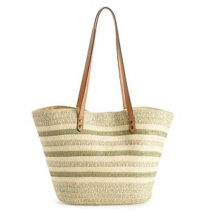 Sonoma Goods For Life Straw Fan Tote