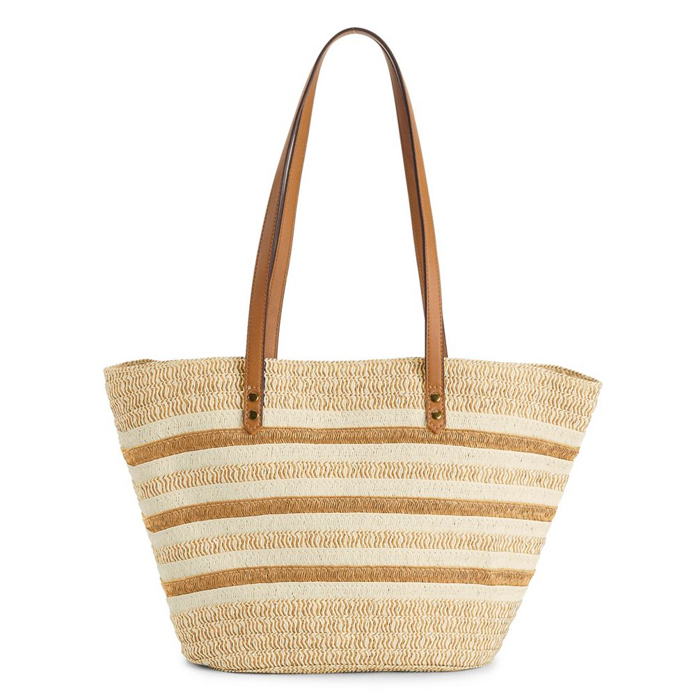 SONOMA Goods for Life® Straw Fan Tote