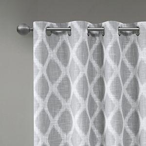 SunSmart Kagen Printed Ikat Blackout Patio Curtain