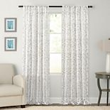 Clean Window Embroidered Floral Anti-Dust Sheer Window Curtain