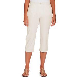 Petite Gloria Vanderbilt Amanda Trouser Capri Jeans