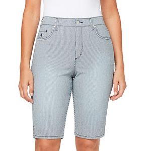 Petite Gloria Vanderbilt Amanda Bermuda Jean Shorts
