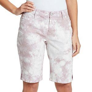 Petite Gloria Vanderbilt Bermuda Jean Shorts