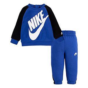 Baby Boy Nike Raglan Pullover Sweatshirt & Pants Set