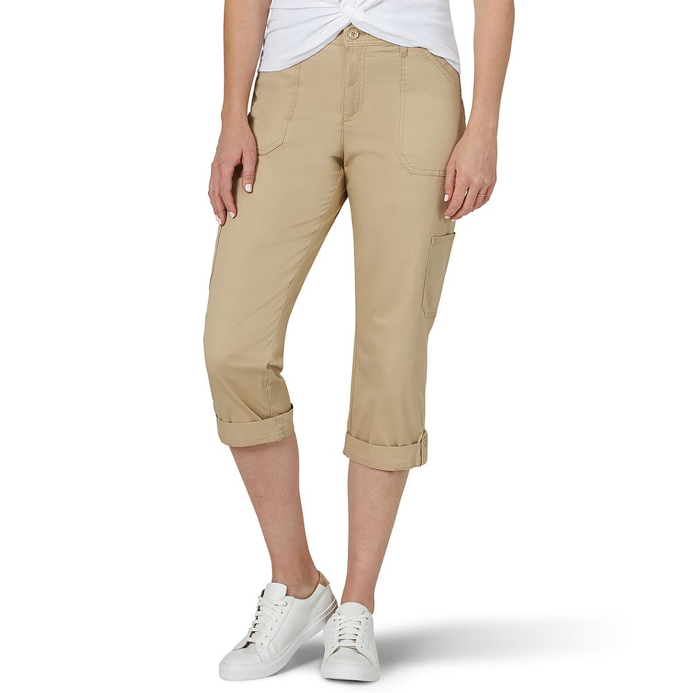 Petite Lee® Flex-To-Go Cargo Capri Pants