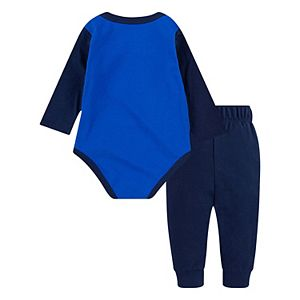 "Baby Boy Nike ""Born To Play"" Logo Bodysuit & Pants Set"
