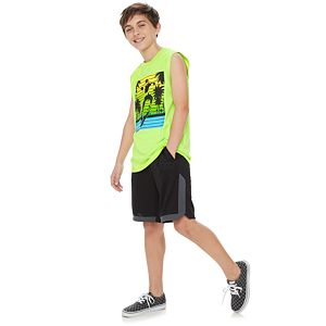 Boys 4-20 Tek Gear DryTek Graphic Muscle Tee in Regular & Husky