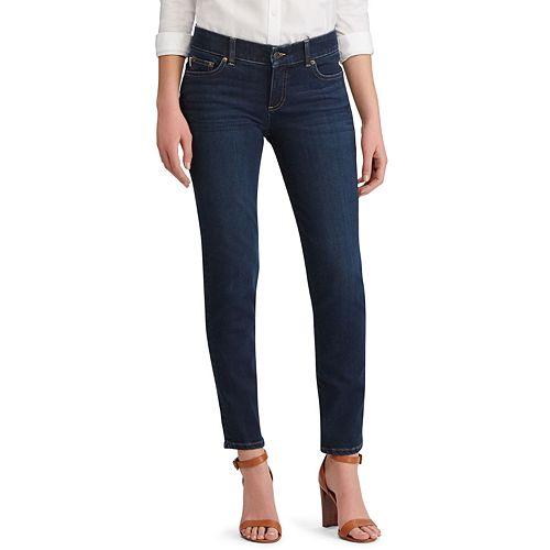 Women's Chaps Twill Midrise Straight-Leg Pants