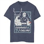 Boys 8-20 Disney Frozen 2 Sven Kristoff Olaf Trio Courage Is Calling Tee