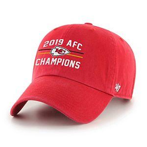 Adult '47 Brand Kansas City Chiefs 2019 AFC Champions Adjustable Hat