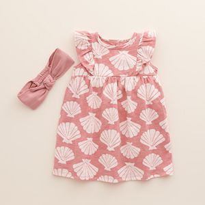 Baby & Toddler Girl Little Co. by Lauren Conrad Ruffle Dress & Headband Set