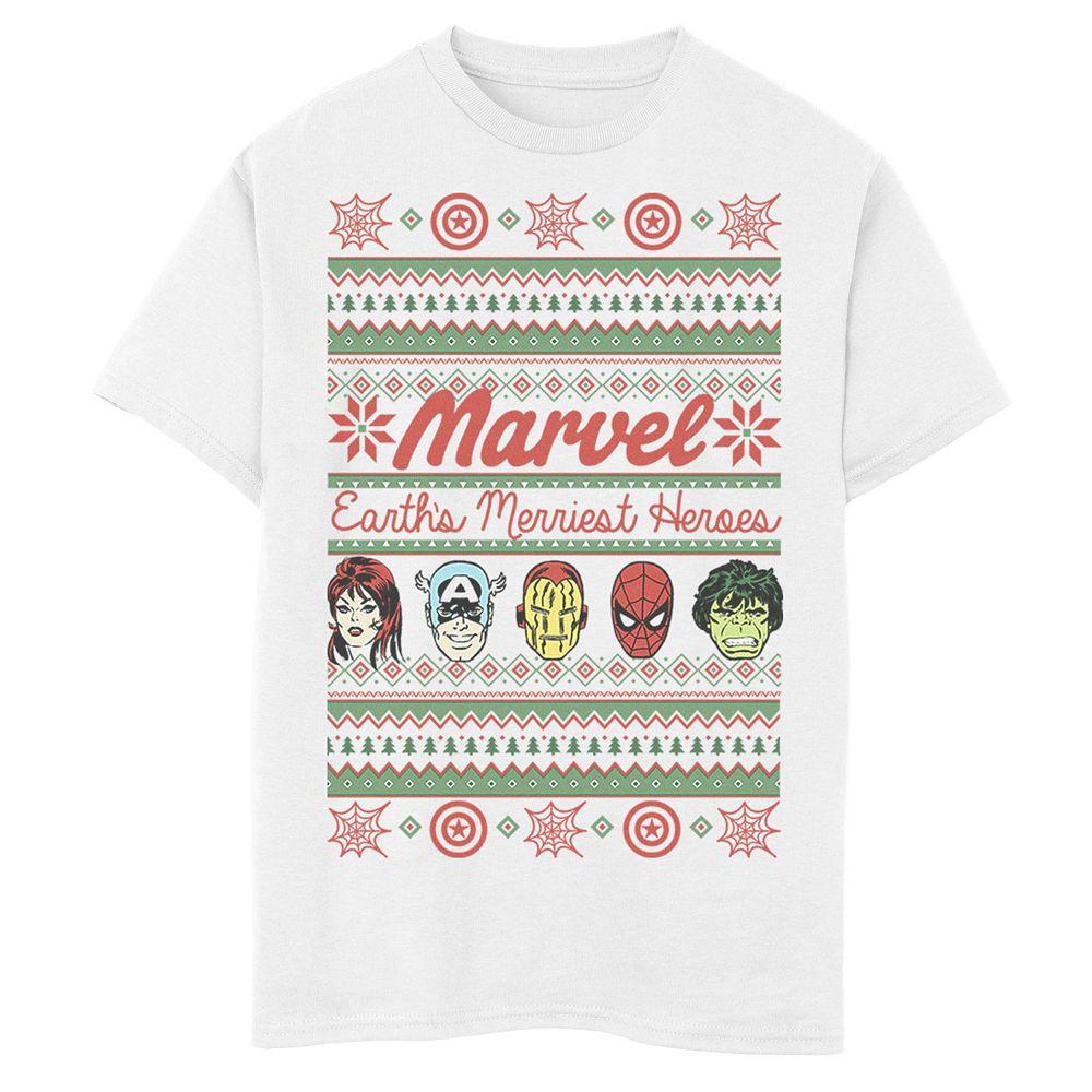 Boys 8-20 Marvel Earth's Mightiest Heros Knit Style Tee
