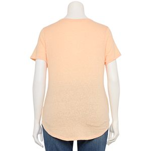 Juniors' Plus Size SO® Favorite Crewneck Shirttail Tee