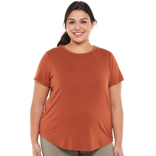 Juniors' Plus Size SO® Favorite Crewneck Shirttail Tee