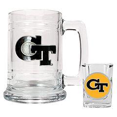 Georgia Tech Yellow Jackets 2 pc Mug & Shot Glass Set