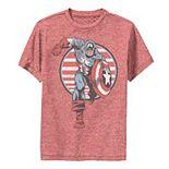 Boys 8-20 Marvel Captain America Charge Premium Tee