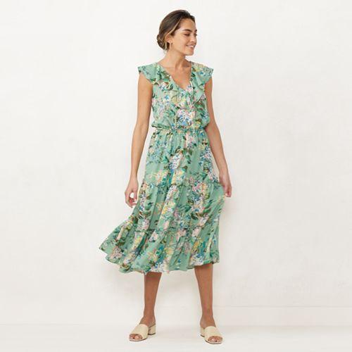 Women's LC Lauren Conrad Ruffle V-neck Maxi Dress