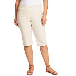 Gloria Vanderbilt Amanda Womens Capris Heritage Fit Denim size 10 16 22W 24W NEW