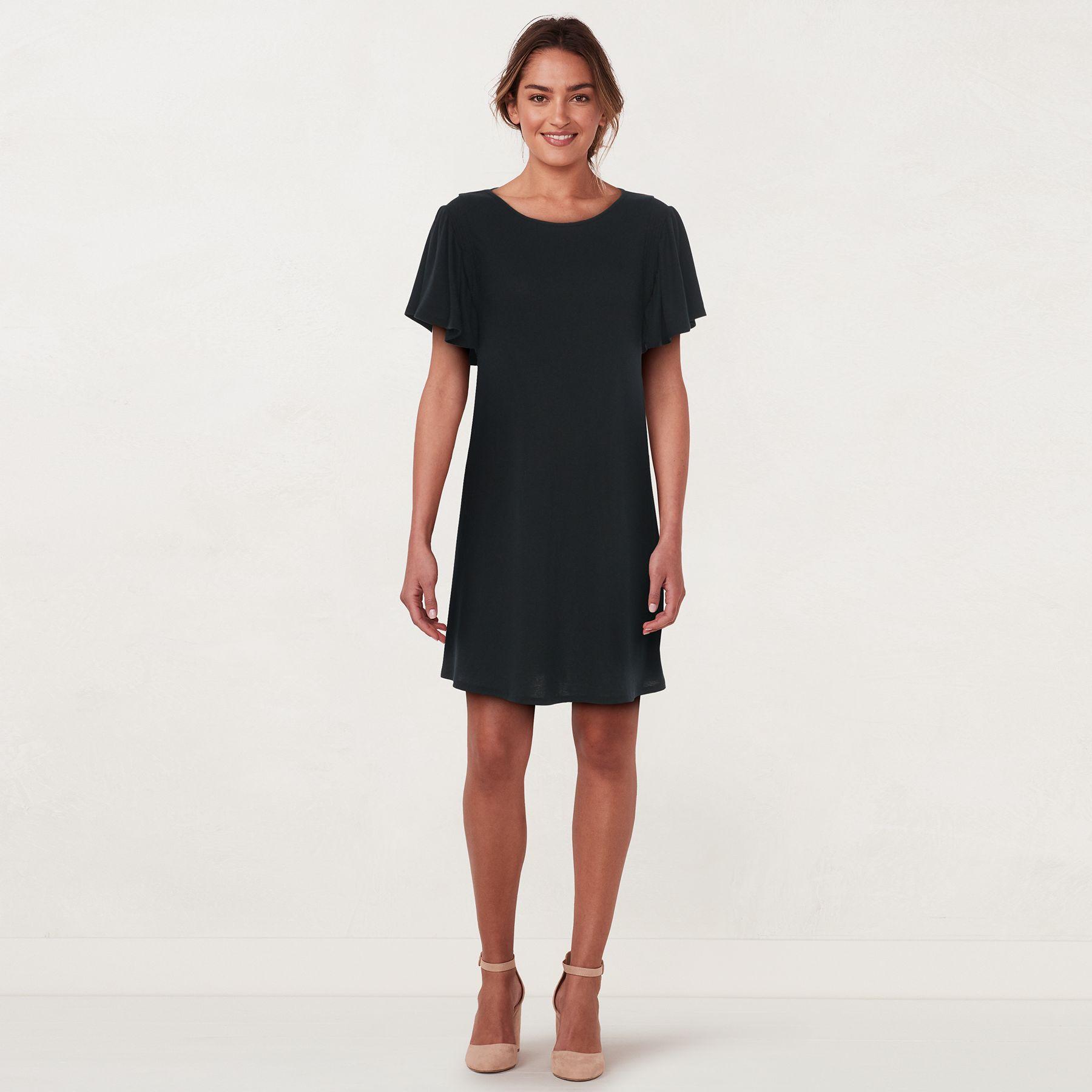Women's LC Lauren Conrad Knit Flutter-Sleeve Dress