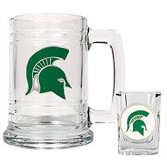 Michigan State Spartans 2 pc Mug & Shot Glass Set