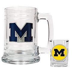University of Michigan Wolverines Mug & Shot Glass Set