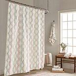 One Home Brand Dot Tile Shower Curtain