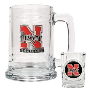 Nebraska Cornhuskers Mug and Shot Glass Set