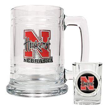 Nebraska Cornhuskers Mug & Shot Glass Set