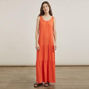Women's Elizabeth and James Drop Waist Tiered Maxi Dress
