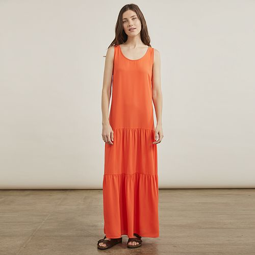 Women's Elizabeth and James Drop Waist Tiered Maxi Dress