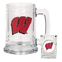 University ofWisconsin BadgersMug & Shot Glass Set