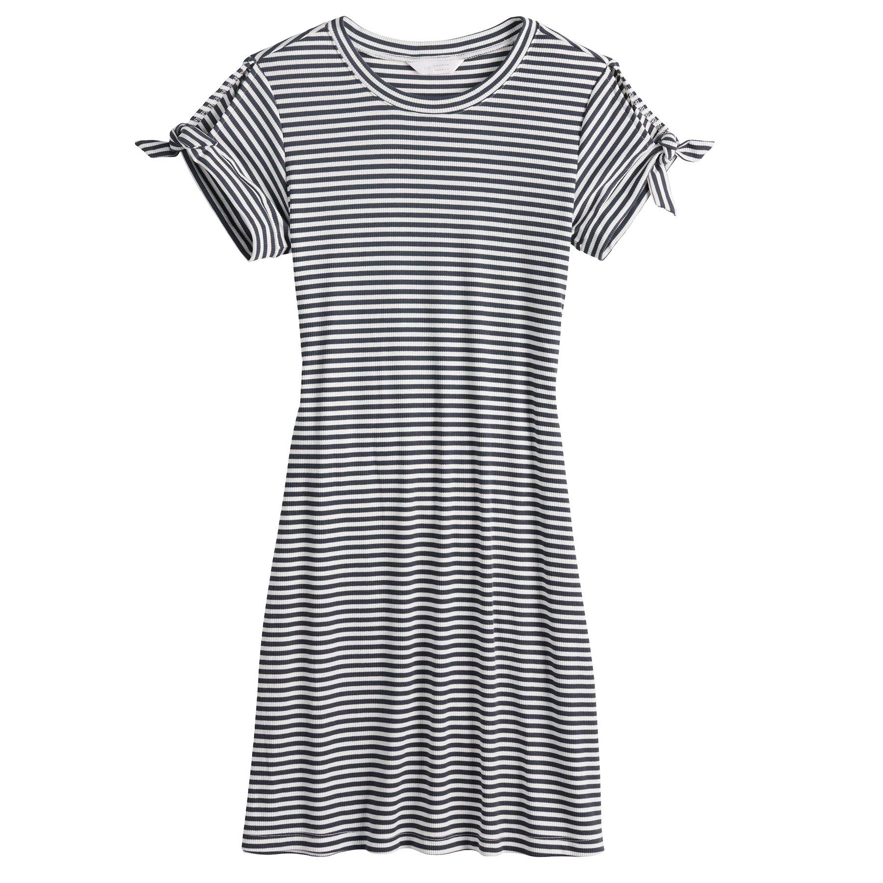 Women's LC Lauren Conrad Knot-Sleeve Swing Dress