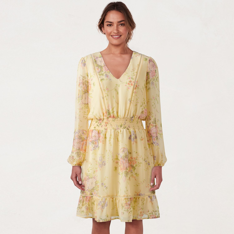 Women's LC Lauren Conrad V-Neck Flounce Dress