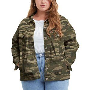Plus Size Levi's® Camouflage Trucker Jacket