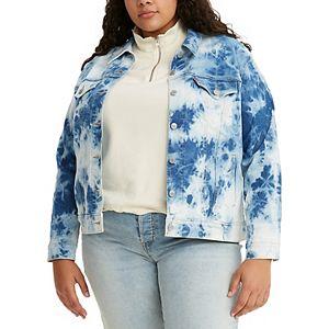 Plus Size Levi's® Print Trucker Jean Jacket