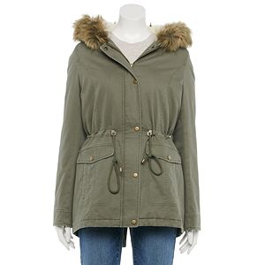 Juniors' Sebby Faux-Fur Hood Anorak Jacket