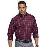Big & Tall Van Heusen Classic-Fit Sateen Print Button-Down Shirt