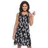 Petite Croft & Barrow® Pintuck Swing Dress
