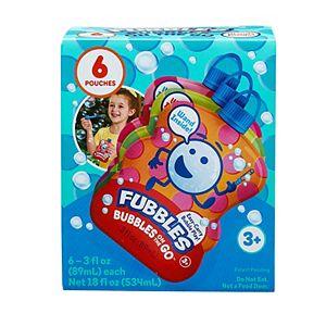 Fubbles 6-Pack Bubbles on the Go