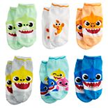 Toddler Boy Nickelodeon's Baby Shark 6 Pack Low-Cut Socks