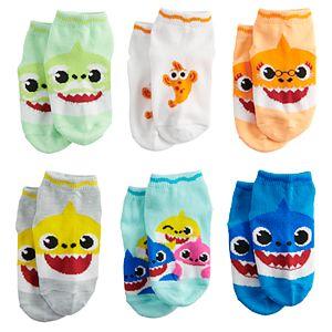 Toddler Boy Nickelodeon's Baby Shark 6 Pack Low-Cut Socks