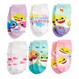 Toddler Girl Nickelodeon's Baby Shark 6 Pack Low-Cut Socks