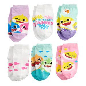 Toddler Girl Nickelodeon's Baby Shark 6 Pack Low-Cut Socks