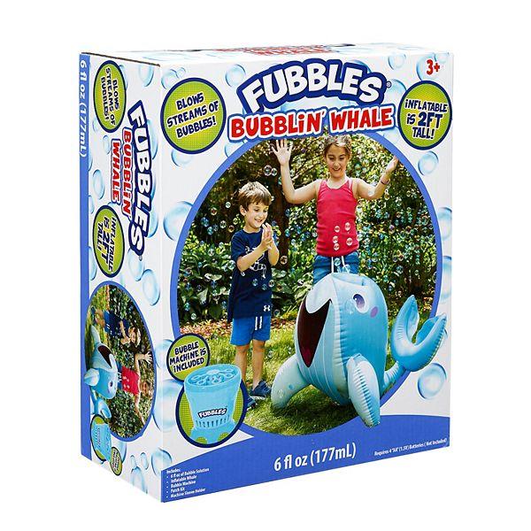 Fubbles Bubblin' Whale Inflatable and Bubble Machine - Blue