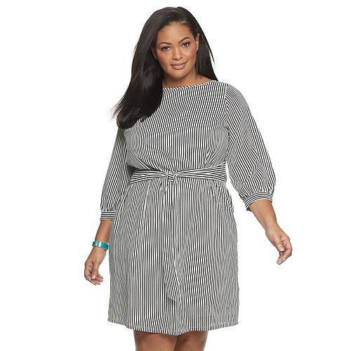 Plus Size Apt. 9® Belted Boatneck Dress