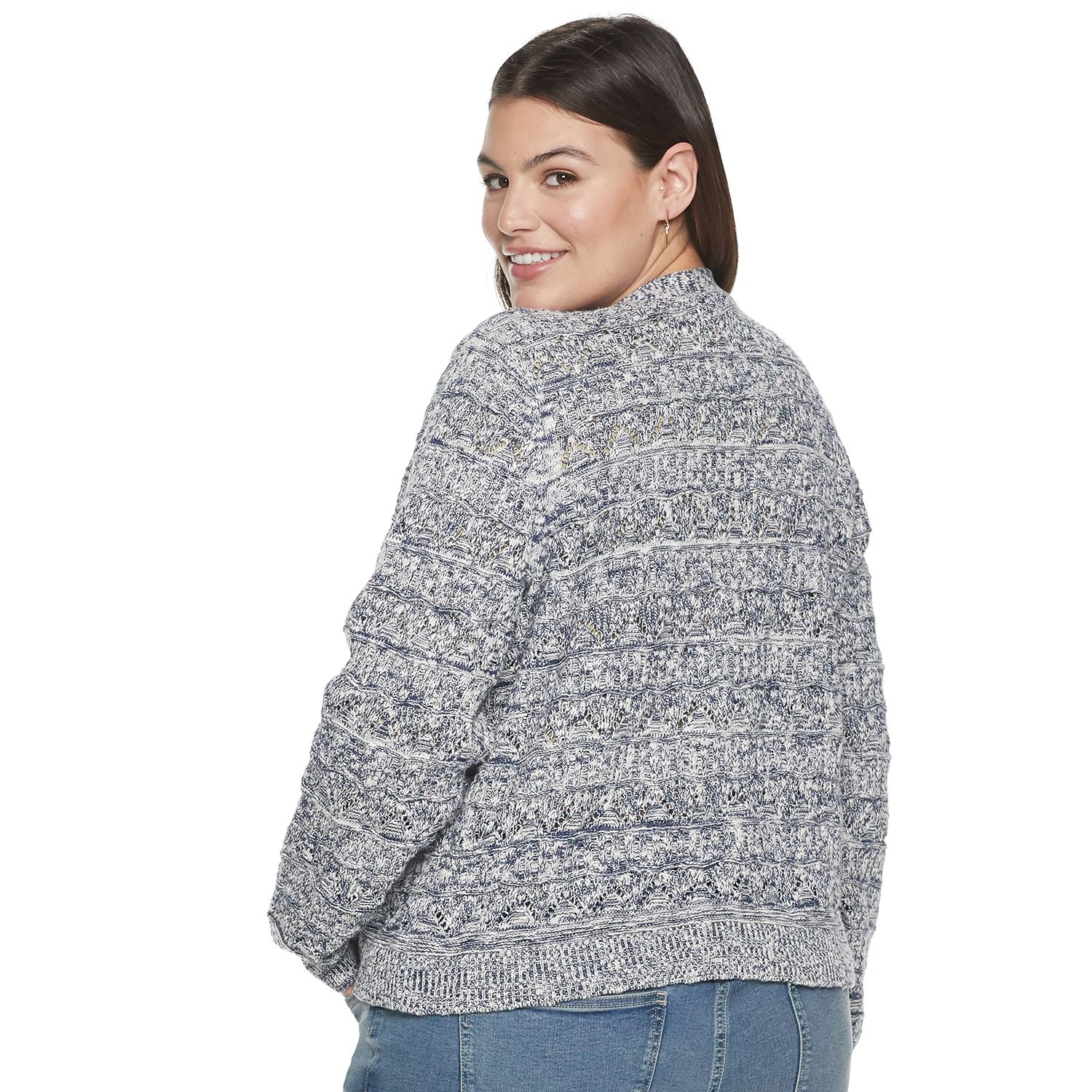 Plus Size Sonoma Goods For Life® Button V-Neck Cardigan